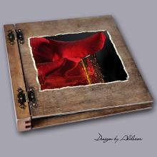 album drewniany DUO duży 50 kart motyw walentynki 3