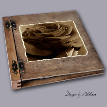 album drewniany DUO duży 50 kart motyw walentynki 4