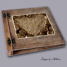album drewniany DUO duży 50 kart motyw walentynki 5