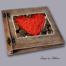 album drewniany DUO duży 50 kart motyw walentynki 6