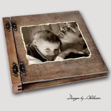album drewniany DUO duży 50 kart ze zdjęciem klienta