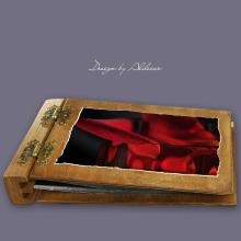 album drewniany DUO średni 50 kart motyw walentynki 1