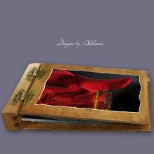 album drewniany DUO średni 50 kart motyw walentynki 3