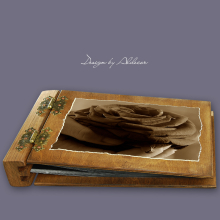 album drewniany DUO średni 50 kart motyw walentynki 4