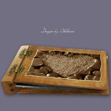 album drewniany DUO średni 50 kart motyw walentynki 5