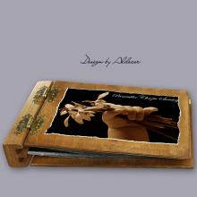 album drewniany DUO średni 50 kart motyw chrzest 4