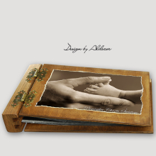album drewniany DUO średni 50 kart motyw chrzest 5