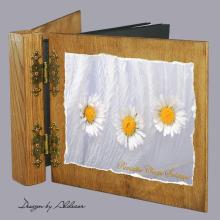 album drewniany DUO standard 50 kart motyw chrzest 3