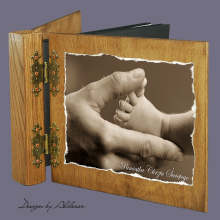 album drewniany DUO standard 50 kart motyw chrzest 5
