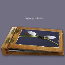 album drewniany DUO standard 50 kart motyw ślubny nr 6