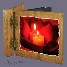 album drewniany DUO standard 50 kart motyw walentynki 2
