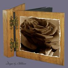 album drewniany DUO standard 50 kart motyw walentynki 4