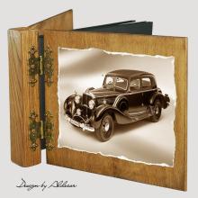 album drewniany DUO standard 50 kart z motywem samochodu retro 1