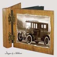 album drewniany DUO standard 50 kart z motywem samochodu retro 3