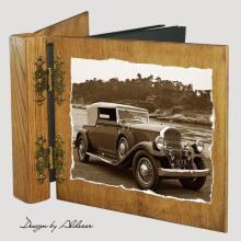 album drewniany DUO standard 50 kart z motywem samochodu retro 4