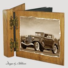 album drewniany DUO standard 50 kart z motywem samochodu retro 5