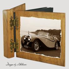 album drewniany DUO standard 50 kart z motywem samochodu retro 6