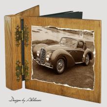 album drewniany DUO standard 50 kart z motywem samochodu retro 7
