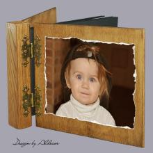 album drewniany DUO ze zdjęciem klienta