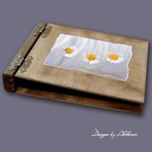album drewniany MODENA średni 75 kart motyw chrzest 3
