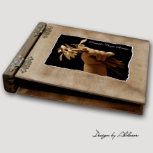 album drewniany MODENA średni 75 kart motyw chrzest 4