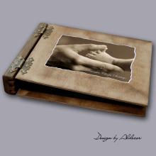 album drewniany MODENA sredni 75 kart motyw chrzest 5