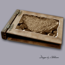 album drewniany MODENA średni 75 kart motyw walentynki 5