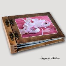 album drewniany MODENA standard 75 kart motyw chrzest 1