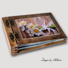 album drewniany MODENA standard 75 kart motyw chrzest 2