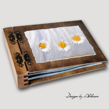 album drewniany MODENA standard 75 kart motyw chrzest 3