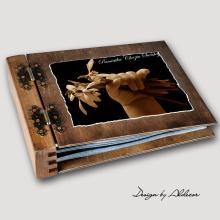 album drewniany MODENA standard 75 kart motyw chrzest 4