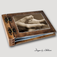 album drewniany MODENA standard 75 kart motyw chrzest 5