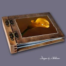 album drewniany MODENA standard 75 kart motyw ślubny nr 5