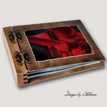 album drewniany MODENA standard 75 kart motyw walentynki 1