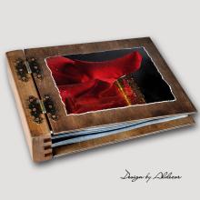 album drewniany MODENA standard 75 kart motyw walentynki 3