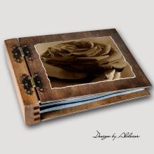 album drewniany MODENA standard 75 kart motyw walentynki 4