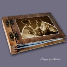 album drewniany MODENA standard 75 kart ze zdjęciem klienta
