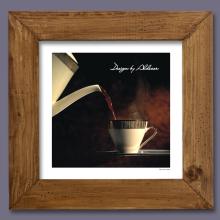 grafika z motywem kawy motyw 1 jasna rama