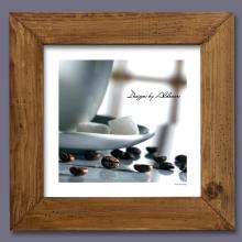 grafika z motywem kawy motyw 4 jasna rama