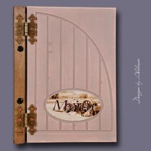 karta MENU w kolorze mocca + kasztan