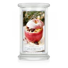 Kringle Candle - Apple Chutney - duży, klasyczny słoik (623g) z 2 knotam