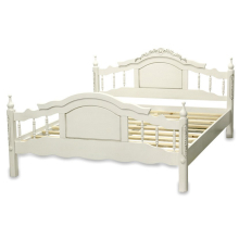 łóżko drewniane retro białe 1600 x 2000 102199 art