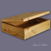 skrzynia drewniana duża do albumów - wys. 120 mm