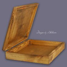 skrzynia drewniana duża do albumów - wys. 80 mm