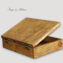 skrzynia drewniana do albumów - wys. 100 mm