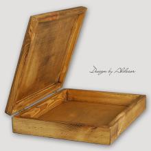 skrzynia drewniana do albumów - wys. 80 mm