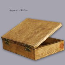 skrzynia drewniana średnia do albumów - wys. 100 mm