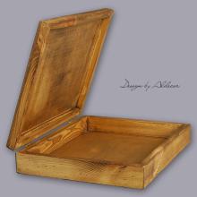 skrzynia drewniana średnia do albumów - wys. 80 mm